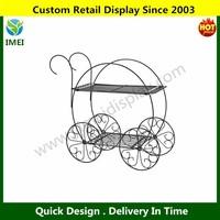 POP Two Tiered Garden Metal Cart Display