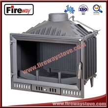 Best cast iron material 14KW wood fireplace insert
