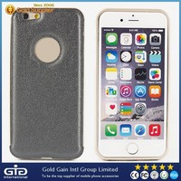 [GGIT]Fashionable Phone Case Metal Bumper+Leather Skinning Back Cover for iPhone 6