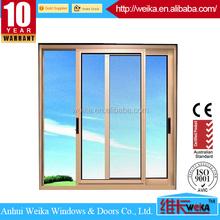 Chinese top brand aluminum window/aluminium double sliding windows