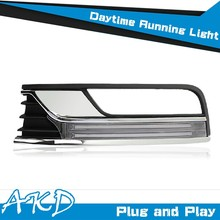 AKD Car Styling Cob Design VW Passat B7 DRL 2012 Passat LED DRL Europe Daytime Running Light Good Quality LED Fog lamp