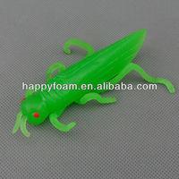 TPR plastic stretch locust grasshopper shape toys