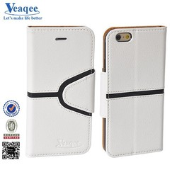 Veaqee universal wallet two mobile phones leather case for iphone 6