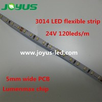 American market 3014 led strip 5mm width 24v 120leds/m lumenmax chip