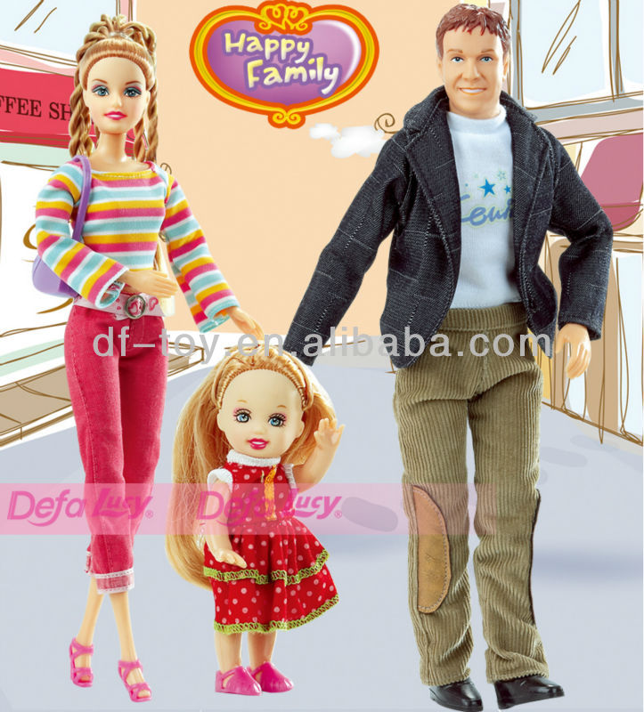 Happy Family Beautiful Jointed Girl Dolls 4 inch and 11.5 ...