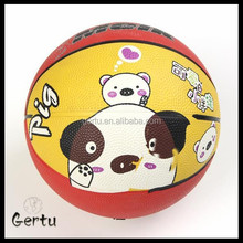 Promotional custom printed rubber basketball standard mini size 5 3 2 1