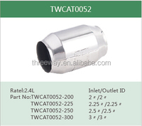 hot sell high flow universal catalytic converter with metallic substrate 100cpsi 200cpsi