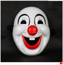 A Halloween party mask funny face mask of Venice plastic clown mask red nose
