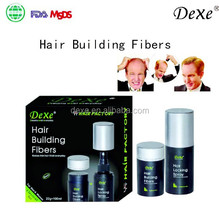 miracle hair building fiber Hot top sale Dexe 2015 for women and men