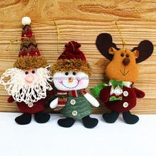 Lovely Snowman Santa Claus Elk Christmas Doll Decoration Xmas Tree Ornament New