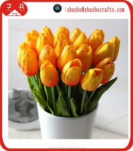 distribution price 35cm Real Touch PU Tulip Artificial Flower Bouquet Home Floral Decoration