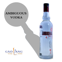 sales vodka for mass people, customized vodka
