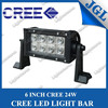 Two rows heavy duty 24w spot flood led tractor light bar for jeep 10-30V