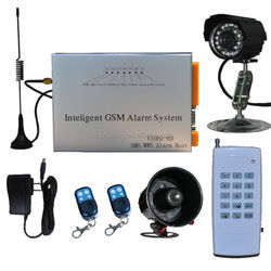 cheap auto dial wireless ip 3g gsm video camera security alarm