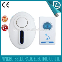 With competitive price 32 melodies 315MHZ digital led flashing doorbell