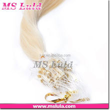 new arrival can be restyled cheap human hair bundles sizes micro copper tube for hair extension