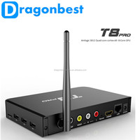 2015 New Metal Octa Core Android 5.1 Tv Box T8 Cr18 Pro With Kodi 16.0 Fully Loaded 2Gb 8Gb Dual Band Wifi Media Box
