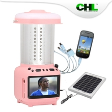 2015 New CHL camping solar panel with tv