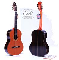 Professional solid korean pine veneer classical guitar good for sale