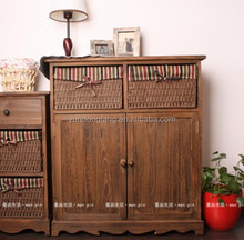 antique cheap wooden shoe cabinet for sale