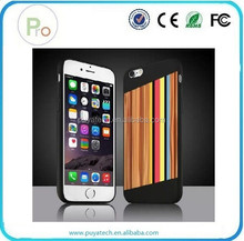 coloured drawing or patter Handmade Wooden PC case for iPhone 6 and 6 Plus PRO-IP04032