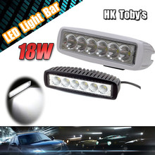 high power 18W black/write LED driving light 12Volt led chip waterproof IP67