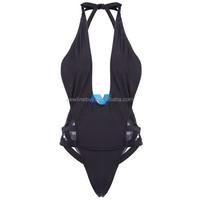 New Fashion Lady Women's Sexy Pierced Halter Swimsuit Piece Swimwear