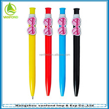 Funny plastic cartoon ball pen