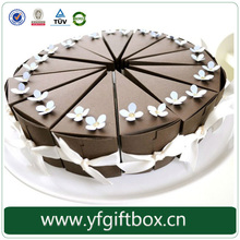 Fashion design customized circular paper gift box decorative cake boxes wholesale