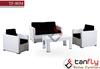 sofa furniture garden rattan 4 piece cube set
