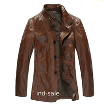 Custom Tailor Made Exclusive Genuine Blazer Coat Leather Jacket Designer Brown