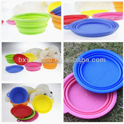 Modern latest colorful collapsible silicone pet bowl