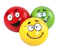 wholesale emoji balls high quality PVC inflatable toys/ baby massage Ball with smile printing