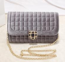 d95878t winter suede checked chain fashion ladies hand bags messenger bag for women