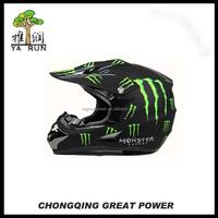2015 DOT Full Face Matte Black Motorcross Safety Helmet