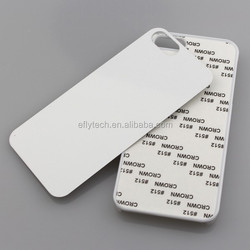 high quliaty blank 2D Sublimation hard pc phone case with aluminium sheet for iphone 5 5s