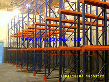 2015 new style industrial heavy duty first in last out drive-in pallet racking for auto parts storage