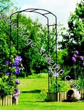 Wrought Iron Garden Arch, Metal Fancy Curl Arbor for Your Home and Garden