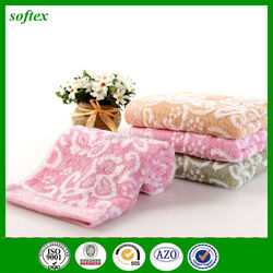 110g flower jacquard bamboo fiber towel