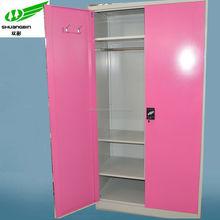 Top selling modern cheap storage double door metal steel folding clothes wardrobe lockers/wardrobe lockers stainless