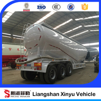 Dry bulk cement/ cement bulker trailer with V type
