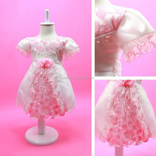 Flower Girl Princess Tulle Dress Lace Embroidery Ball Gowns Kids Dresses For Weddings