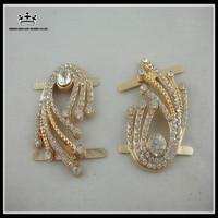 Wholesale high quality rhinestone metal shoe buckles shoe accessories