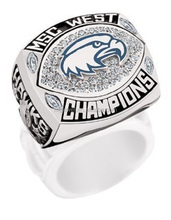 AAA Pave setting stones college sport champions rings jewelry