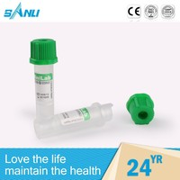 health products one-off green cap blood test tube