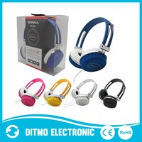 Stereo wired music headphones hand frees work for smart phone /laptop