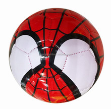 super hero spider man EN71 approved machine stitched PVC SIZE 5 soccer ball