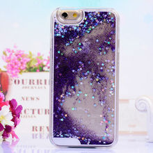 Purple Fashion Crystal Phone Case for iPhone 6,for iPhone 6 Plus Glitter Shining Case