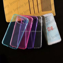Clear Transparent TPU Silicone Back Soft Gel Cover Case For Samsung Galaxy S6 SM-G920F / S6 edge SM-G925F