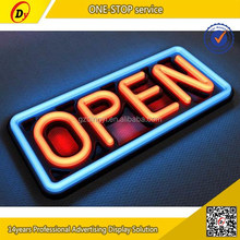 Hot selling custom size and shape ,bar/club used high quality led acrylic open sign